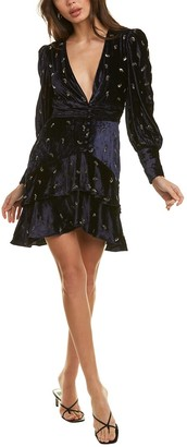 Rococo Sand Velvet Mini Dress