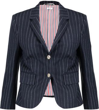 Thom Browne Pinstriped Wool-flannel Blazer