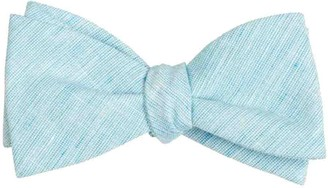Tie Bar Serenity Solid Turquoise Bow Tie