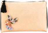 Lisa C Bijoux - embellished clutch - women - Leather/metal/glass - One Size