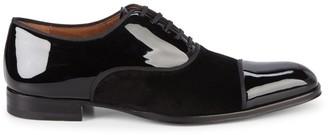 Mezlan Patent Leather & Velvet Oxfords