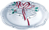 Mikasa Holiday Bells Crystal Serving Platter
