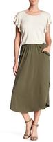 Max Studio Ruffle Pocket Shirt Tail Hem Skirt
