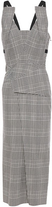 Roland Mouret Holloway Prince Of Wales Checked Wool-blend Midi Dress
