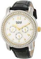 Burgi Women's BUR083YGB Analog Display Japanese Quartz Black Watch