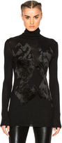 Ann Demeulemeester Embroidered Turtleneck Sweater