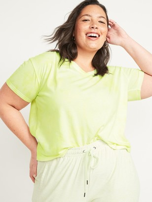 Old Navy Loose Tie-Dyed V-Neck Plus-Size Crop Tee