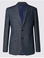 M&S Collection Linen Miracle Regular Fit Jacket