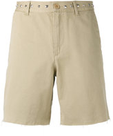 Saint Laurent stud embellished shorts - men - Cotton - 30