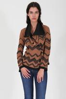 Goddis Malik Chevron Knit Jacket In Fairmont