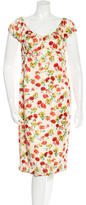 Derek Lam Silk Floral Print Dress