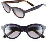 Maui Jim Women's Leia 49Mm Polarizedplus2 Retro Sunglasses - Blue Rootbeer/ Neutral Grey