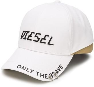 Diesel Ring Detail Logo Caps