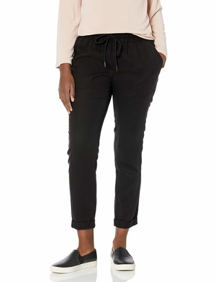 True Religion Women's Rolled Mid Rise Slim fit Jogger Sweatpant