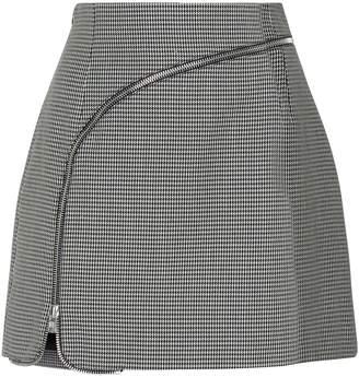 Alexander Wang Zip Detail Check Skirt