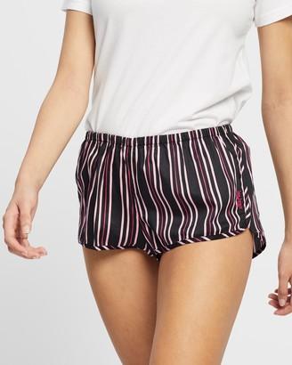Les Girls Les Boys Women's Black Pyjama Bottoms - Woven Shorts - Size M at The Iconic