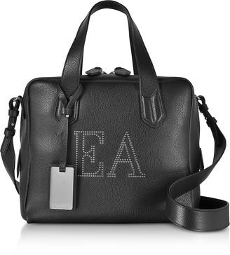 Emporio Armani Genuine Leather Top Handles Boston Bag