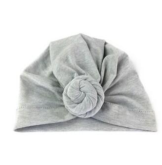 Baby Wisp Baby Hat Turban Knot Grey
