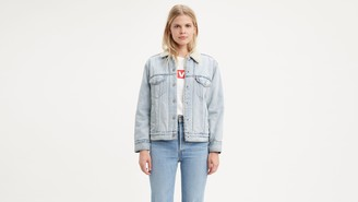 Levi's Levis? Sherpa Trucker Jacket with Jacquard? by Google