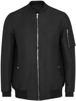 Rick Owens Flight Black Shell Bomber Jacket