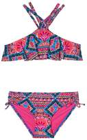 Gossip Girl Girl's Mixed Print Two-Piece Swimsuit