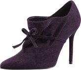 Stuart Weitzman Aokhi Pointy Suede Bootie, Concord Purple