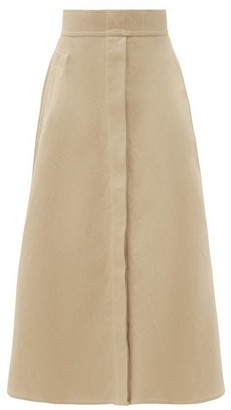 Lemaire Linen-blend Canvas Midi Skirt - Beige