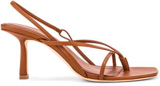 Studio Amelia 2.4 Flip Flop Heel in Tan Nappa Leather | FWRD