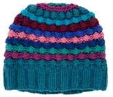 Little Marc Jacobs Girls' Metallic-Accented Striped Beanie w/ Tags