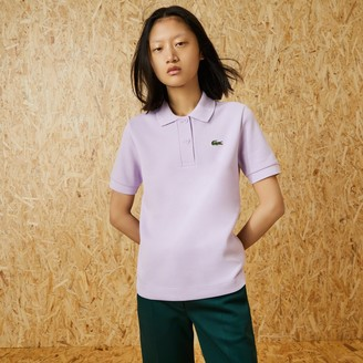 Lacoste Womens Fashion Show Edition Solid Stretch Cotton Polo Shirt