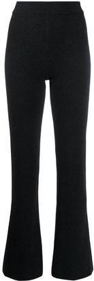 Nanushka Leba flared knit trousers