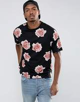 Asos Oversized T-Shirt With All Over Floral Print