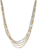 INC International Concepts Gold-Tone Five-Row Mixed-Media Necklace, Only at Macy's