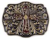 Sam Store Vintage Cross Belt Buckle Cowboy Native American Motorcyclist (CR-01-G)