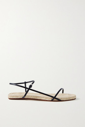 The Row Bare Leather Espadrille Sandals - Midnight blue