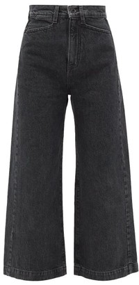 Proenza Schouler White Label High-rise Rinsed-denim Jeans - Womens - Black