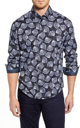 Stone Rose Regular Fit Floral Button-Up Sport Shirt