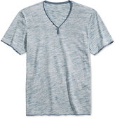 INC International Concepts Men's Le Grecko Heathered Y-Neck T-Shirt, Only at Macy's