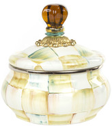 Mackenzie Childs MacKenzie-Childs - Parchment Check Enamel Squashed Pot