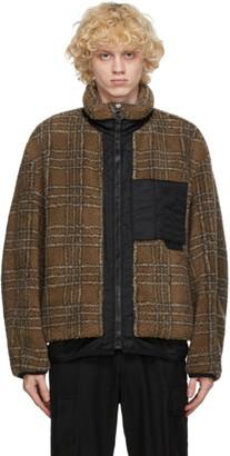 Solid Homme Beige Plaid Fleece Jacket