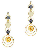 Haus of Topper Hammered Stone Drop Layer Earrings