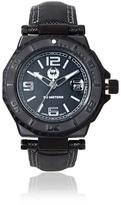 Brillier Men's 25-05 Hype Black Stainless Steel Watch