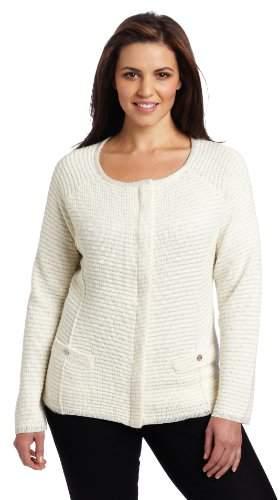 AK Women`s Plus Size Long Sleeve Fold Out Collar Top