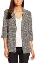 New Look Women's Snickerdoodle 3/4 Sleeve Suit Jackets & Blazers, Grey