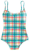 J.Crew Seamless underwire one-piece swimsuit in vintage plaid