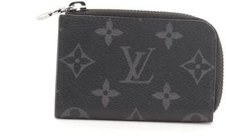 Louis Vuitton Zip Coin Purse Monogram Eclipse Canvas