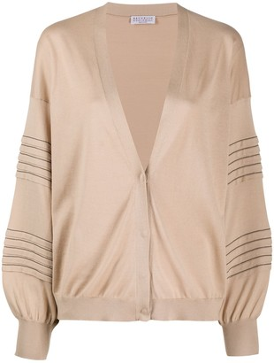 Brunello Cucinelli Stud-Embellished Cotton Cardigan