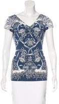 Roberto Cavalli Metallic Printed Top