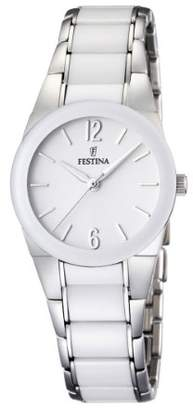 Festina Ladies Analogue Watch F16534/1 with Stainless Steel Strap and White Dial