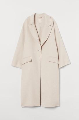 H&M Oversized Wool-blend Coat - Beige